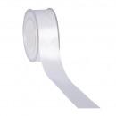 Großhandel Geschenkartikel & Papeterie: Satin, Breite 40 mm, Länge 25m, weiß